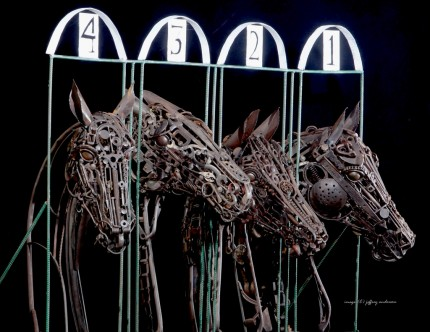 "Jenny Horstman, American Contemporary ""Starting Gate"""