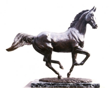 "Lorne McKean, British Contemporary ""Morning Air"" Modelled from Desert Orchid for Albany China Company, Bronze, Edition: 5/25, 40 x 40 x 13 cm"