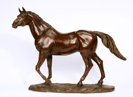 "Lorne McKean, British Contemporary ""Show Jumping Stallion"" Modelled at the French National Stud from Galoubet, Bronze, Edition: 23/31, 43 x 52 x 13 cm"