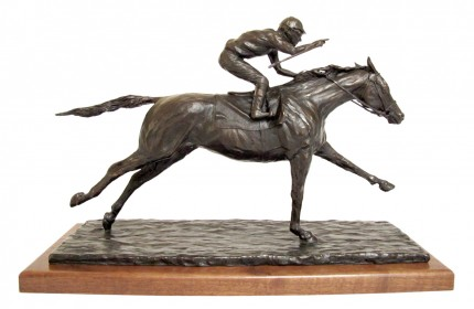 """Marcela Ganly, Argentine Contemporary """"El Festejo"""" Bronze, Series of 15, 12 x 19 x 5.5 inches, Signed & Numbered"""