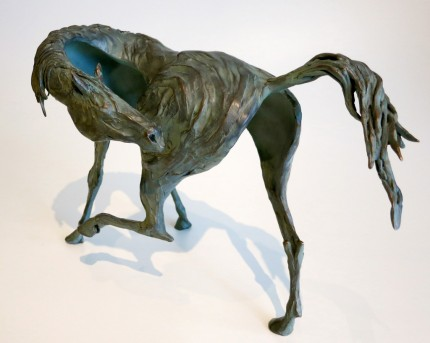 "Marcela Ganly, Argentine Contemporary ""Wild Itch"" Lost wax bronze, Series of 10, 9.5 x 15 x 5 inches, Signed & Numbered"