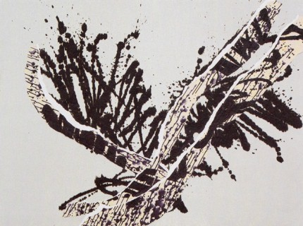 """Abstract Bird I"" Cyprès Collection, 2001-2002, Mixed Media, 38 x 38 inches (96.5 x 96.5 cm)"