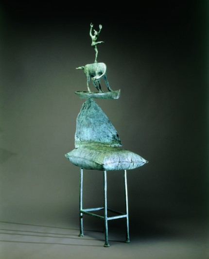 """O DREAMER, SING FOR JOYFUL WAKING (USA)"" Bronze, Edition of 12, 75 x 26 x 19 inches"