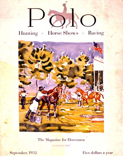 """1932 Polo Magazine Cover"" 14 x 11 inches, Signed"