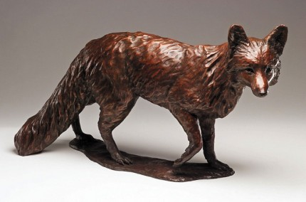 "Carrie Quade, American Contemporary ""Scarlett"" Bronze, Edition of 25, 17 x 32 x 8 inches, Signed"