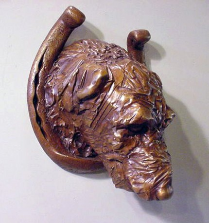 "Catherine Shinnick, American Contemporary ""Lucky Dog"" Bronze"