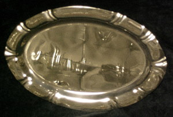 Pewter  Fluted Tray