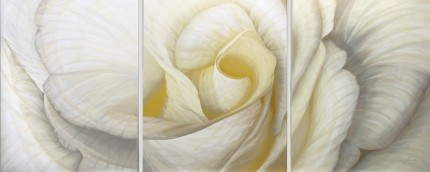 """Dynamism 7"" 2013, Triptych, 38 x 80 inches, Signed lower right"