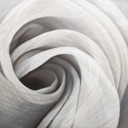 """Dynamism 8"" 2013, Oil on canvas, 40 x 40 inches, Signed lower left"