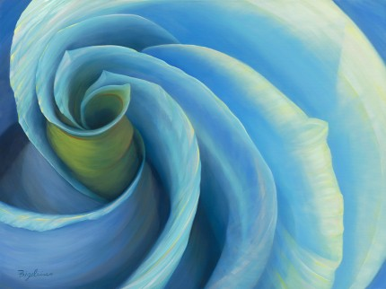 """Rhapsody in Blue"" Oil on canvas, 30 x 40 inches, Signed lower left"
