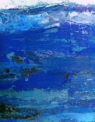 """""""Blue Seascape"""" (detail)"""