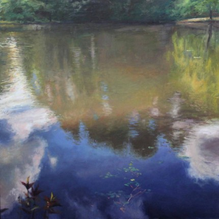 """Reflections #4"" Oil on canvas, 48 x 48 inches, Signed"
