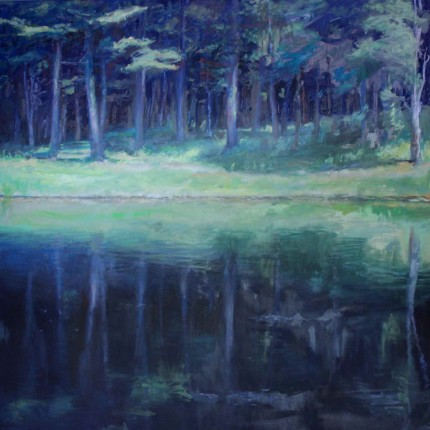 """Reflections #5"" Oil on canvas, 48 x 48 inches, Signed"