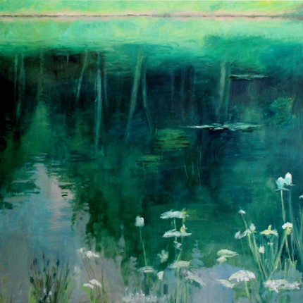 """Reflections #7"" Oil on canvas, 36 x 36 inches, Signed"