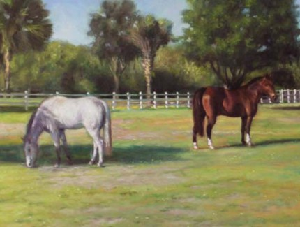 """The Beauties"" Oil on canvas, 30 x 40 inches, Signed"