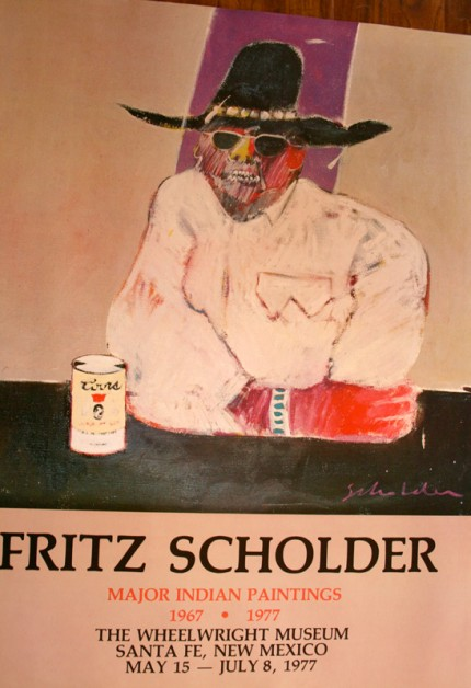 """""""Fritz Scholder: Coors"""" Major Indian Paintings, 1967-1977, The Wheelwright Museum, Santa Fe, New Mexico, May 15-July 8, 1977, Limited Edition Poster, 32 x 24 inches"""