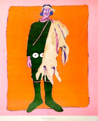 """""""Fred Harvey Indian"""" 1975, Jack O'Grady Galleries, Limited Edition Poster, 38 x 25 inches"""
