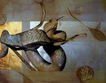 """""""Hidden Perfection"""" 2005, Oil and mixed media on canvas, 16 x 20 inches"""