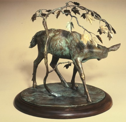 """""""Autumn Gold"""" Edition: 28, Bronze, 14 x 15 inches, Signed: G A Shippen"""