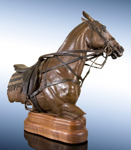 """""""Power Player"""" Bronze, Edition: 23/24, 21 x 12 x 24 inches, Signed, Dated & Inscribed, Provenance: Private Collection, VA Guarisco Gallery, Washington, D.C."""