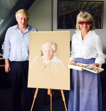 Boris Johnson and Basia Hamilton