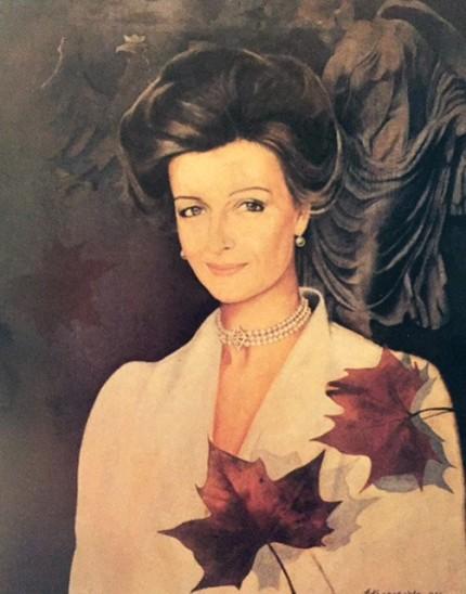 """HRH Princess Alexandra of Kent"" Oil on wood"