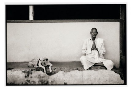 """""""Man and dog in Nandigaddi"""" Gelatin silver print, Edition of 25, Paper size: 50 x 60 cms, Also available in 40 x 50 cms & 76 x 100 cms"""