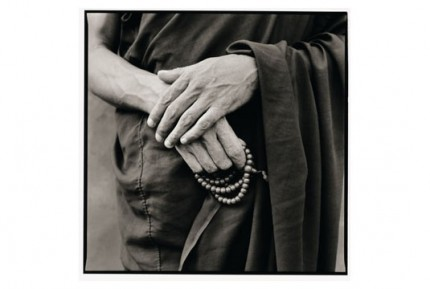 """""""Rato monk holding his rosary"""" Gelatin silver print, Edition of 25, Paper size: 50 x 60 cms, Also available in 40 x 50 cms & 76 x 100 cms"""