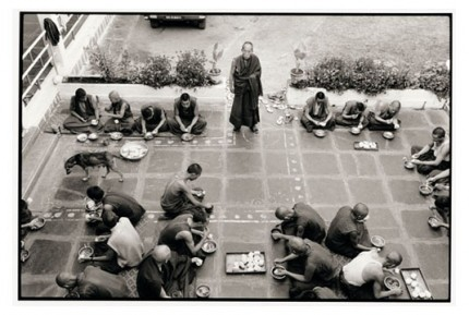 """""""Rato monks dining"""" Gelatin silver print, Edition of 25, Paper size: 50 x 60 cms, Also available in 40 x 50 cms & 76 x 100 cms"""