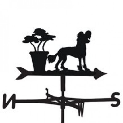 Chinese Crested Dog Weathervane