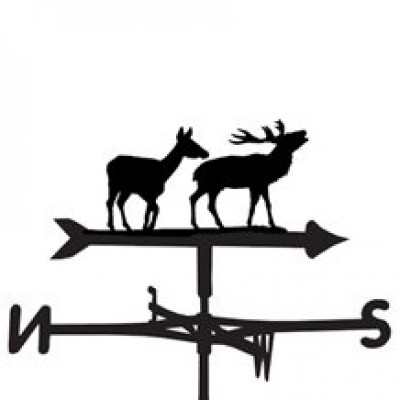 Stag and Doe Weathervane