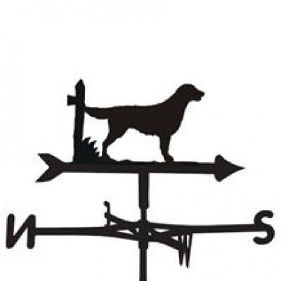 Flat Coated Retriever Weathervane