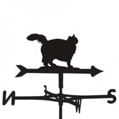Fluffy Cat Weathervane