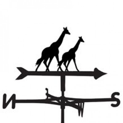 Giraffe Pair Weathervane