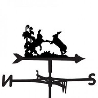 Hares Fighting Weathervane