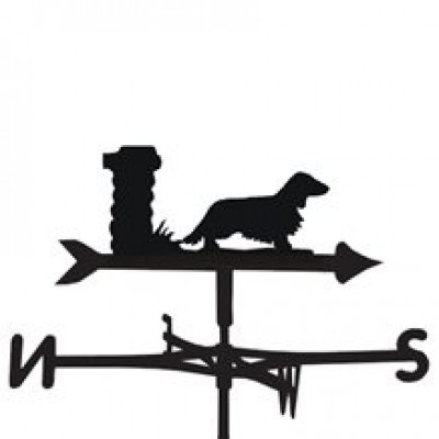 Long Haired Dachshund Weathervane