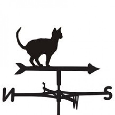 Oriental Siamese Cat Weathervane