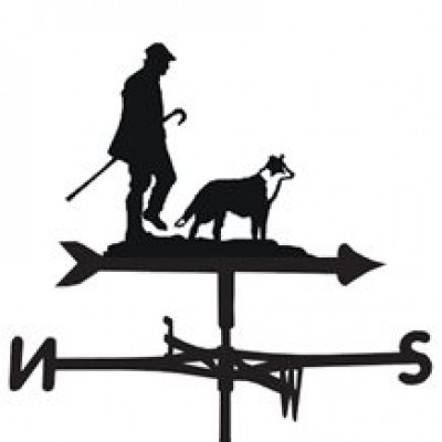 Shepherd and Dog Weathervane