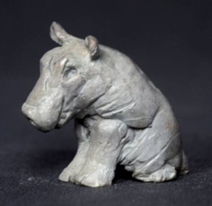 """""""Baby Hippo"""" Bronze, Limited Edition: 150, 45 mm High"""