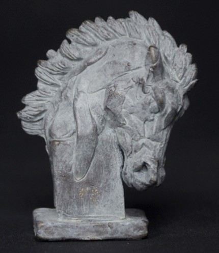 """""""Horse (Head Down)"""" Bronze, Limited Edition: 95, 80 mm High"""