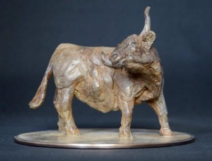 """La Hogue Highland Cow"" Bronze, Limited Edition: 45, 15 x 12 x 15 cm"