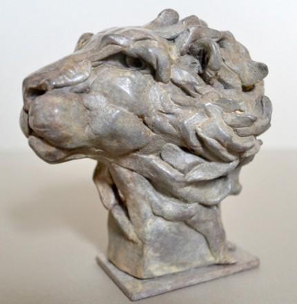 """Lion Head"" Bronze, Limited Edition: 12, 11 x 10 x 9 cm"