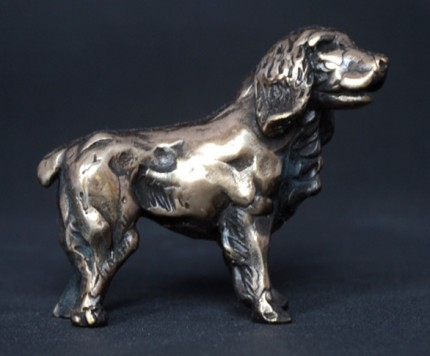 """""""Spaniel"""" Bronze, Limited Edition: 95, 80 mm Wide"""
