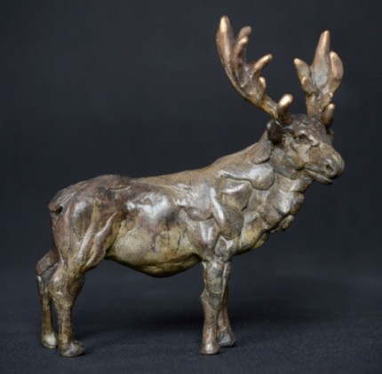 """""""Stag"""" Bronze, Limited Edition: 95, 120 mm High"""