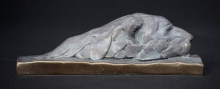 """Swimming Polar Bear"" Bronze, Limited Edition: 95, 130 mm High"