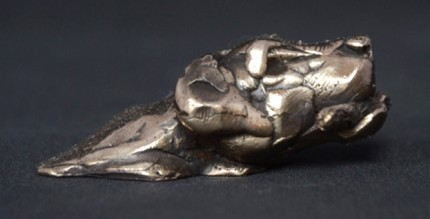 """""""Swimming Labrador"""" Bronze, Limited Edition: 150, 75 mm Wide"""