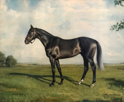 """Spectacular Bid"" 1979, Oil on canvas, 20 x 24 inches, Inscribed, Signed & Dated"
