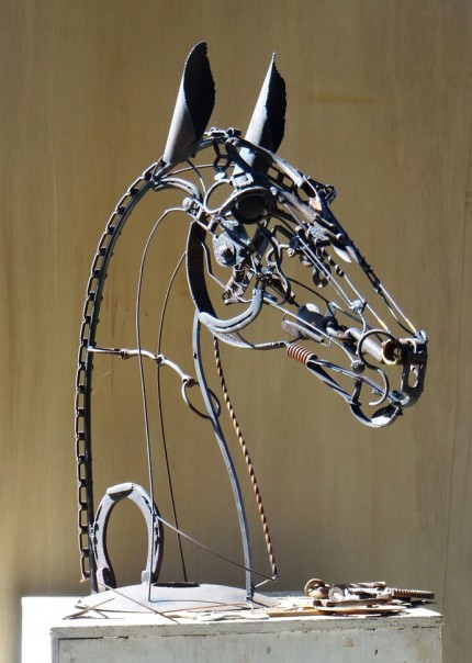 """""""Beau"""" Welded Metal, 38 x 30 x 15 inches, Signed"""
