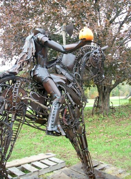 """Headless Horseman"" Welded Metal, Signed, SOLD"