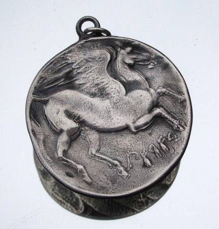 """Pegasus (large)"" Diameter: 1.25"", Price: $299, Chisholm Ref. #: S-EA2 
